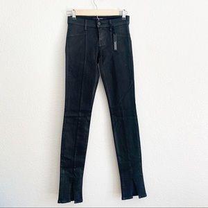 J Brand Coat Steal Black Denim Skinny Jeans